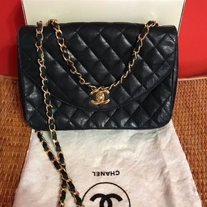 Authentic CHANEL Lambskin Crossbody bag